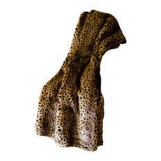 Mina Victory Fur Golden Leopard Brown Throw Blanket