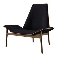 Modloft - Kent Lounge Chair, Black Linen - Armchairs and Accent Chairs