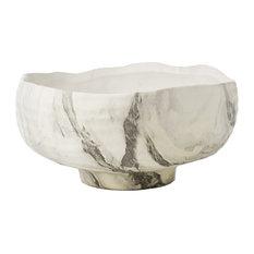 Fume Bowl, Black/White Marbleized