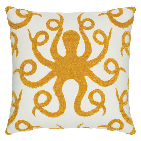 Elaine Smith Pillows Floral Wave Pillow