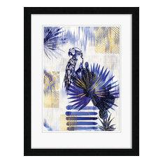 """Ikat Parrot"" Framed Print by Summer Thornton, 90x70 cm"