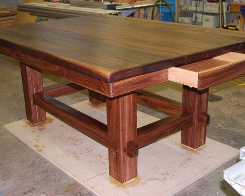 Solid Walnut Kitchen Island Dining Tables