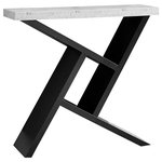 """Monarch - Accent Table, 36""""L / Black / Cement-Look Hall Console - ACCENT TABLE - 36""""L / BLACK / CEMENT-LOOK HALL CONSOLE"""