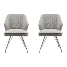 Bronx Contemporary Chairs, Grey, Set of 2