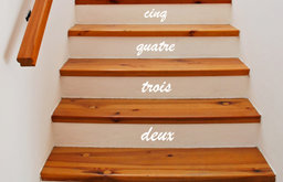 Stair Number Stickers