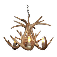 Reproduction Antler Whitetail Deer Chandelier Light, RS-17