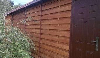 Забор из массива сосны