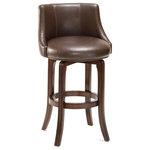 Hillsdale - Napa Valley Swivel Stool, Brown, Bar Height - Don't sit idly by when cultivating your kitchen's design. Raise the bar on style and comfort with the Napa Valley Swivel Bar Stool. With its fully upholstered seat and back, this transitional stool creates a padded perch for your traditional home.