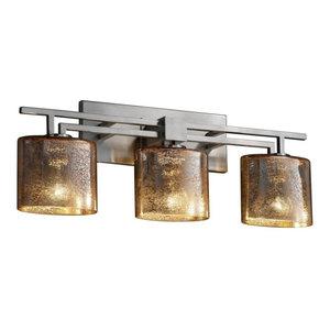 Justice Design Group FSN-8703-30-WEVE-NCKL Aero 3-Light Bath Bar