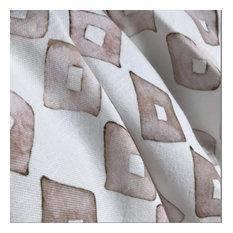 Loose Diamonds-Clay, Cotton Linen Fabric
