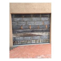 Vintage Style Custom Reclaimed Wood Garage Doors