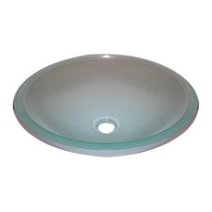 Legion Furniture Frosted Tempered Glass Vessel Sink