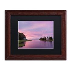 Michael Blanchette 'Morn at Salt Pond' Art, Wood Frame, Black Mat, 14x11