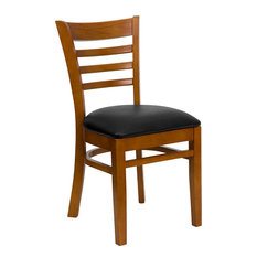 Flash Furniture   Hercules Series Finished Ladder Back Wooden Chair, Cherry    Dining Chairs