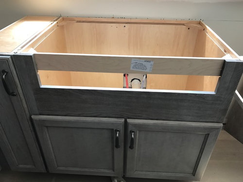 Has Anyone Mounted The Ikon Or A Similar Sink? How Do You Cut Into The  Cabinet And Still Have It Look Good!