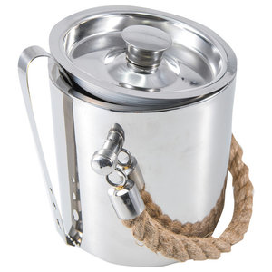 Ice Bucket With Rope Handles and Lid