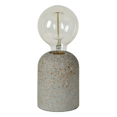 Bruna Table Lamp, Beige Cement, Stone Speckles