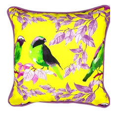 """Morning Chat Indoor/Outdoor Pillow, 20""""x20"""""""