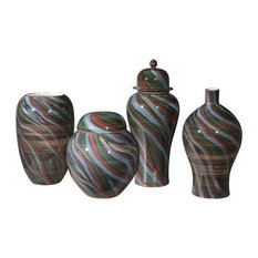 GwG Outlet Decor Ceramic Vase With Multicolor Finish A11673