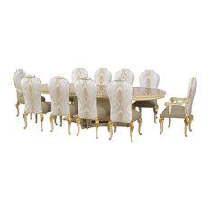 11 Piece European Furniture Bellagio Luxury Dining Set