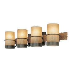 Most popular rustic bathroom vanity lights for 2018 houzz troy lighting bamboo 4 light bath bamboo bronze with natural slate bathroom mozeypictures Image collections