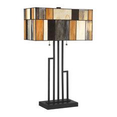"Lite Source C41405 Concertina 2 Light 26"" Tall Tiffany Table Lamp"