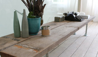 Industrial reclaimed scaffolding plank and steel pipe bespoke furniture/fittings