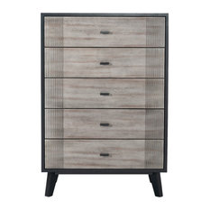 Nova Domus Panther Contemporary Gray And Black Chest
