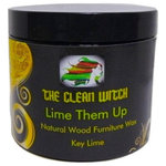 The Clean Witch - Lime Them Up Key Lime Natural Furniture Wax Polish - To get a showroom shine on your furniture you must nourish and protect it. We suggest our natural wax in  Key Lime it reminds me of a summertime pie and the scent is intoxicating, to say the least.   It's a natural shine that protects the wood.  Goes on transparent so it can be used on chalk paint as well.  Always a smooth operation, no clumping. 4oz