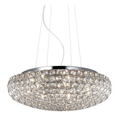 Ideal Lux King Small Pendant, Chrome