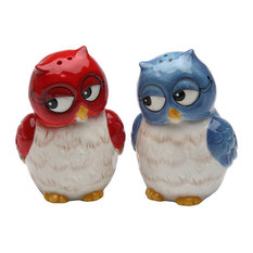 Couple Owls Salt and Pepper Shakers, Set of 2