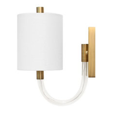 Worlds Away Walton Wall Sconce, Antique Brass