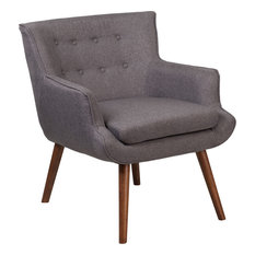 Hercules Hayes Series Tufted Arm Chair, Gray