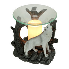 Starlight Symphony Howling White Wolf Electric Essential Oil Burner Aroma Lamp