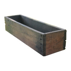 "20"" Rustic Planters Box, Short Version, Aged Rustic, 6"""