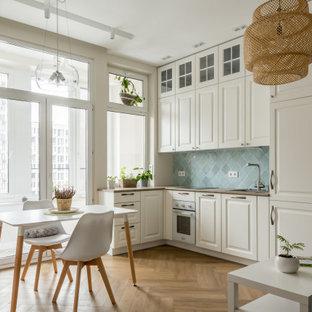 Идея дизайна: кухня среднего размера в скандинавском стиле