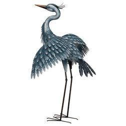 Beach Style Garden Statues And Yard Art by Silver & Crystal Gallery