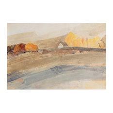 Landscape Art, Canvas Print with Handpainting