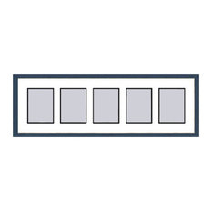 Blue Shaker Collage Picture Frame with 5 rectangle openings for 6X8 photos