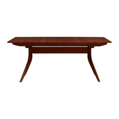 Catalina Extension Trestle Table In Natural Walnut Finish By Copeland Furniture