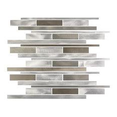 Brown Silver Glass Mosaic Tile, Sample
