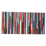 """Modern Textures - Reclaimed Wood Wall Art, 60""""x30"""", 60""""x30"""" - Gorgeous queen headboard made from individually cut and hand painted pieces of upcycled wood. Depth and rich color are plentiful in this lovely piece."""