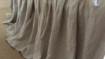 natural linen bedskirt
