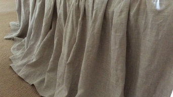 natural linen bedskirt