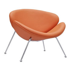 Hawthorne Collections Vinyl Accent Chair, Orange