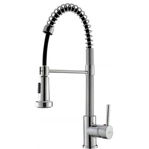 Contemporary Single Handle Kitchen Mixer Taps, Chrome/Black