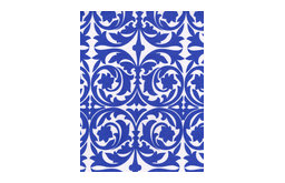 Garden Gate Santorini Blue 60 Square Topper Tablecloth