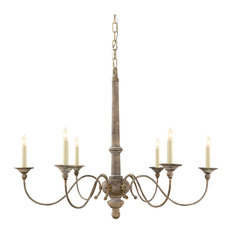 visual comfort visual comfort lighting studio country 6 light chandelier chandeliers