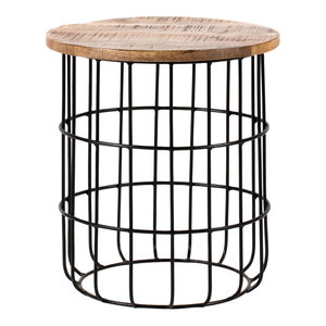Auxon Cage Side Table