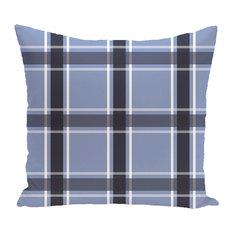 """Criss Cross Applesauce Geometric Print Outdoor Pillow, Cornflower, 20""""x20"""""""
